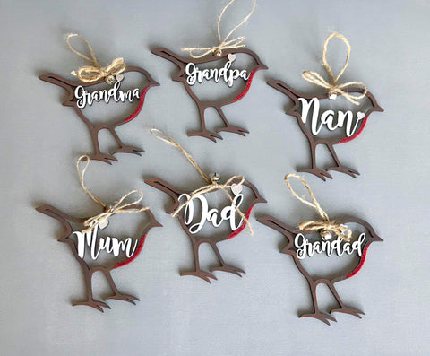 Personalised Hanging Robin Decoration