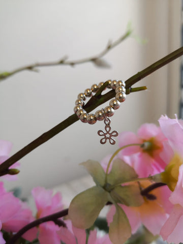 Open Flower Stacker Ring