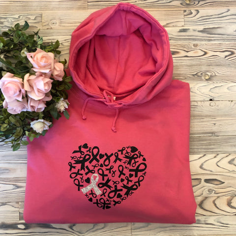 Breast Cancer Awareness Ribbon Heart Design Top