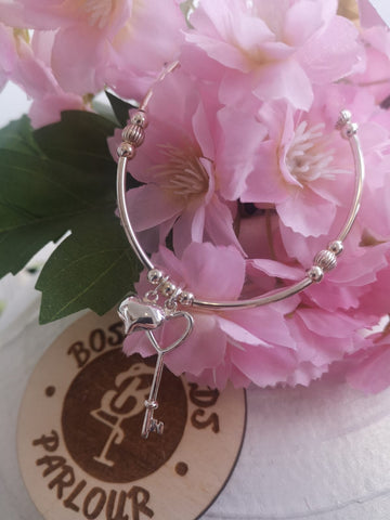 Key To My Heart Sterling Silver Bracelet