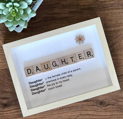 Daughter Scrabble Letter Frame