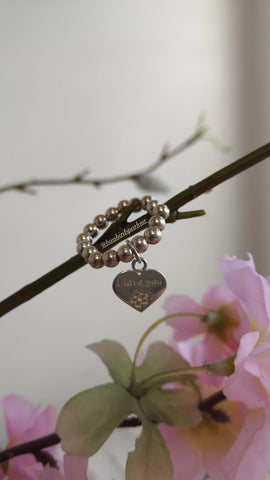 I Love You Heart Charm Ring