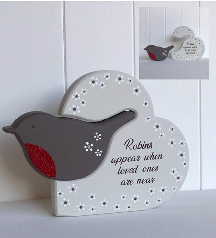 Detachable Robin Freestanding Plaque