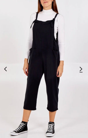Ribbed Dungarees With Bow Knot Detail