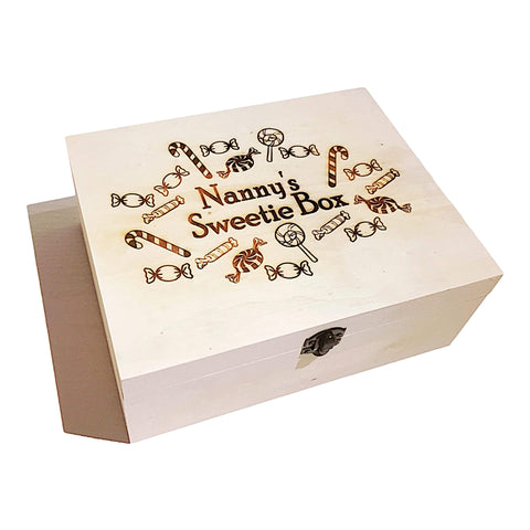 Personalised Nan Nanny Grandma Sweetie, Chocolate Or Liquorice Box