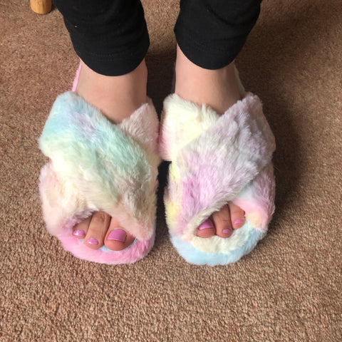 Rainbow Lounge Slippers
