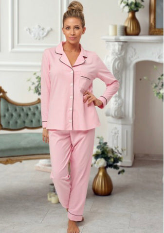 Personalised Ladies Pink Pyjamas