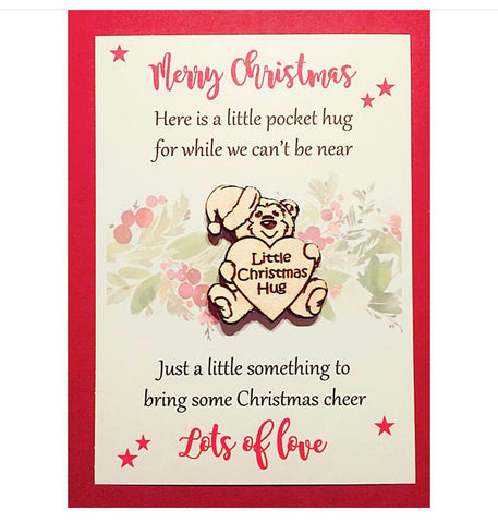 Christmas Pocket Hug Token Keepsake