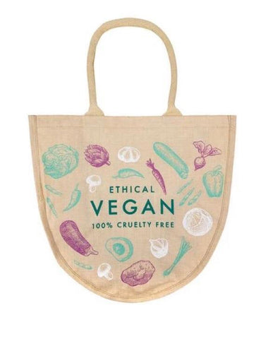 Vegan Bucket Jute Shopper Bag