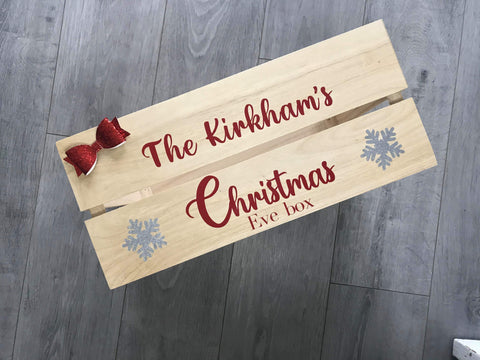 Personalised Large Christmas Eve Box