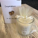New Baby Candle And Card Set