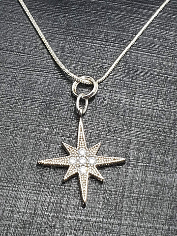 Sterling Silver Crystal Star Collection