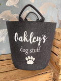 Personalised Felt Dog Toy / Dog Stuff Basket