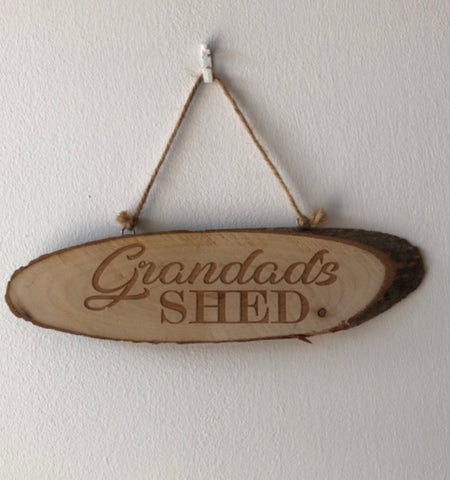 Wooden hanging plaque