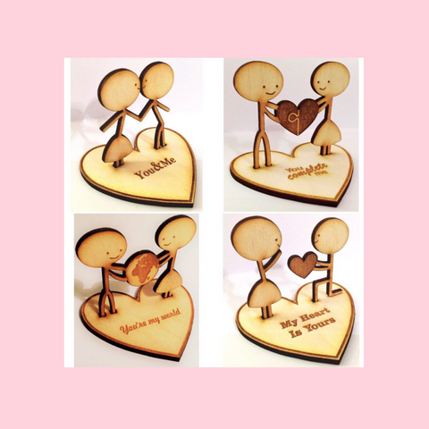Wooden Love Figurines