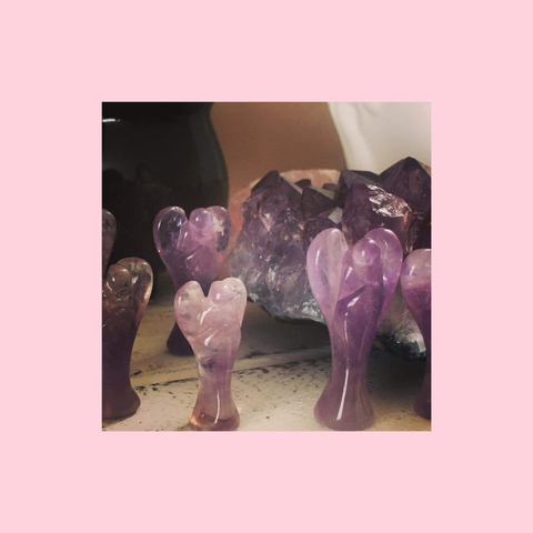 Amethyst Pocket Angel Crystals