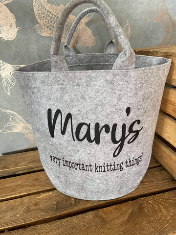 Personalised Felt Craft Basket