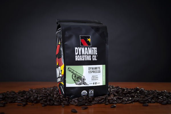 Dynamite Roasting Black Powder Espresso Beans