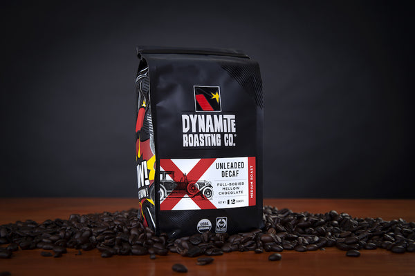 Dynamite Roasting Unleaded Decaf Blend Beans