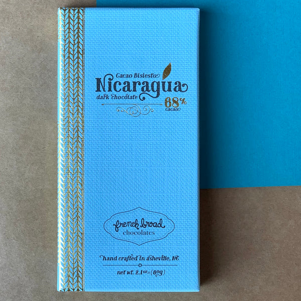 Black Mountain Chocolate prides themselves on curating a collection of the best hand crafted chocolate in North Carolina!  This includes French Broad Chocolate's 68% Cocoa Nicaragua Bar, crafted in Asheville, NC.