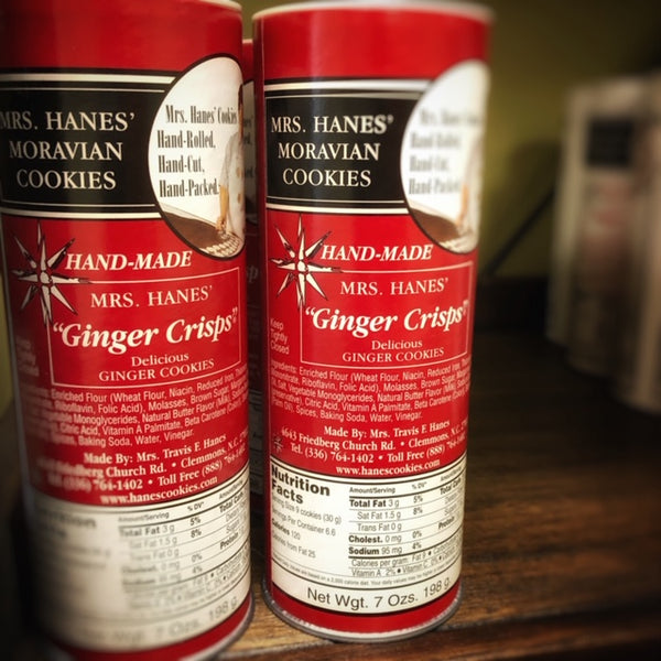 Mrs. Hanes' Moravian Ginger Crisps Cookies