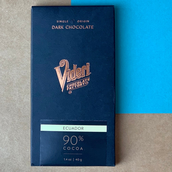 The Videri 90% Dark Chocolate Bar is made in Raleigh, NC.  Find it in the Black Mountain Chocolate Factory store or purchase online!