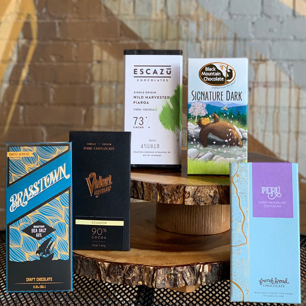The World of Chocolate box samples chocolate bars sourced from cocoa beans around the world!