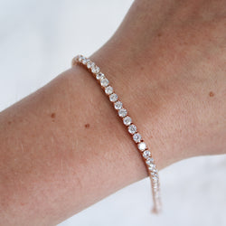 Rose Gold Plated Tennis Bracelet