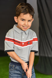 LiL'L Chuco Boys Associate Polo- Grey