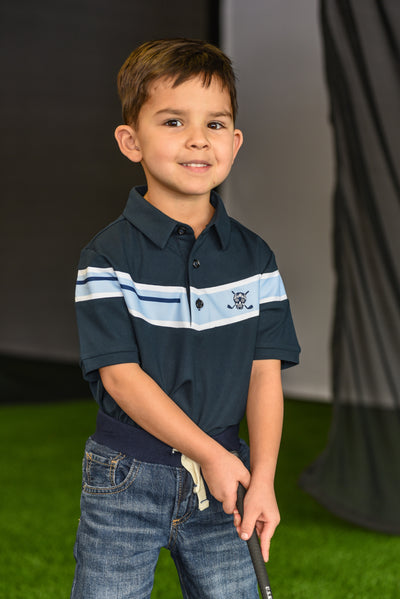 LiL'L Chuco Boys Associate Polo- Navy