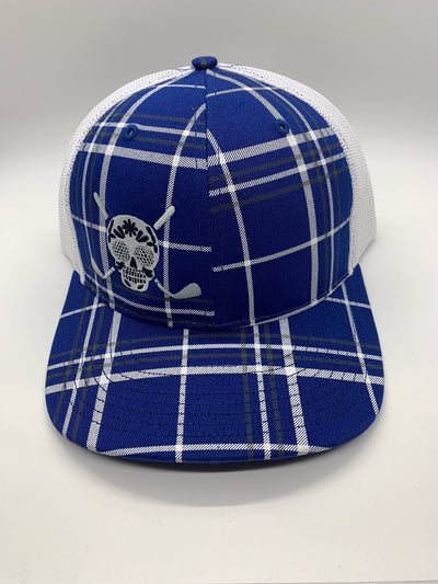 Chuco Golf Hat- Deep Royal Plaid