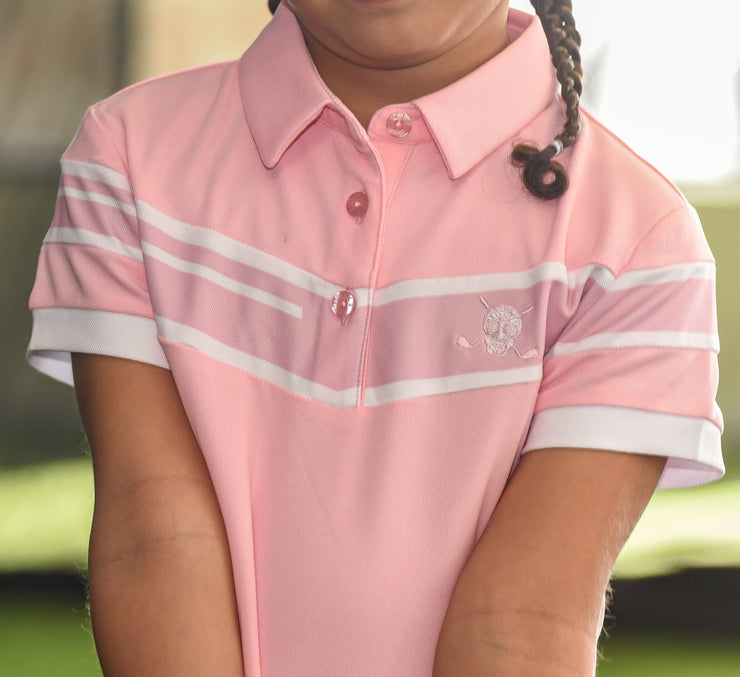 LiL'L Chuco Girls Associate Polo- Pink