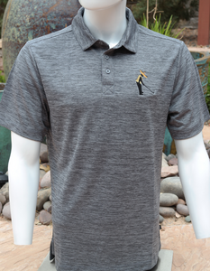 Chuco Heather Golf Polo- Heather Grey Sombrero