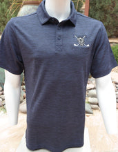 Load image into Gallery viewer, Chuco Heather Golf Polo- Heather Navy