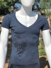 Load image into Gallery viewer, Chuco Drop Neck Ladies Tee- Navy