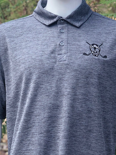 Chuco Heather Golf Polo GEN1- Heather Grey Chuco