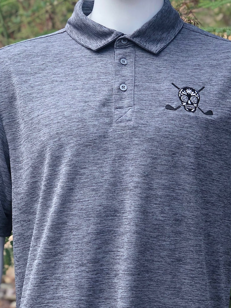 Chuco Heather Golf Polo- Heather Grey Chuco