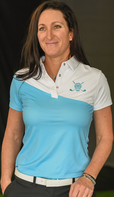 Chuco Golf Women's Sport Polo- The Breeze