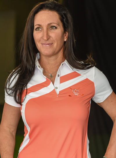 Chuco Women's Sport Polo- Peach