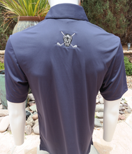 "Load image into Gallery viewer, Chuco Pocket Sport Polo- The ""Geek"" Navy"