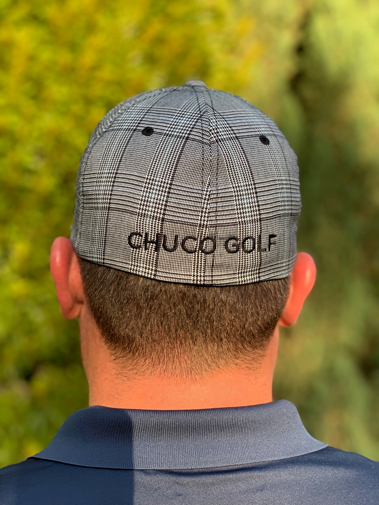 Chuco Plaid Golf Hat - Black