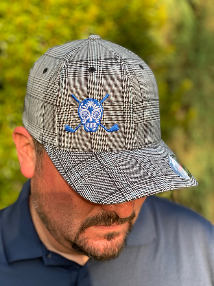Chuco Plaid Golf Hat - BLUE