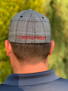 Chuco Plaid Golf Hat - RED