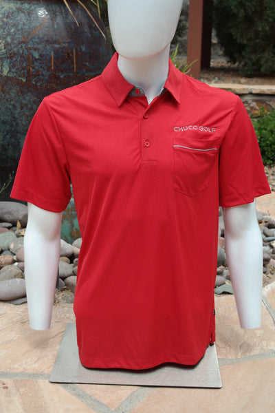 "Chuco Pocket Sport Polo- The ""Geek"" Rojo Sombrero"