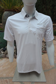 "Chuco Pocket Sport Polo- The ""Geek"" White"