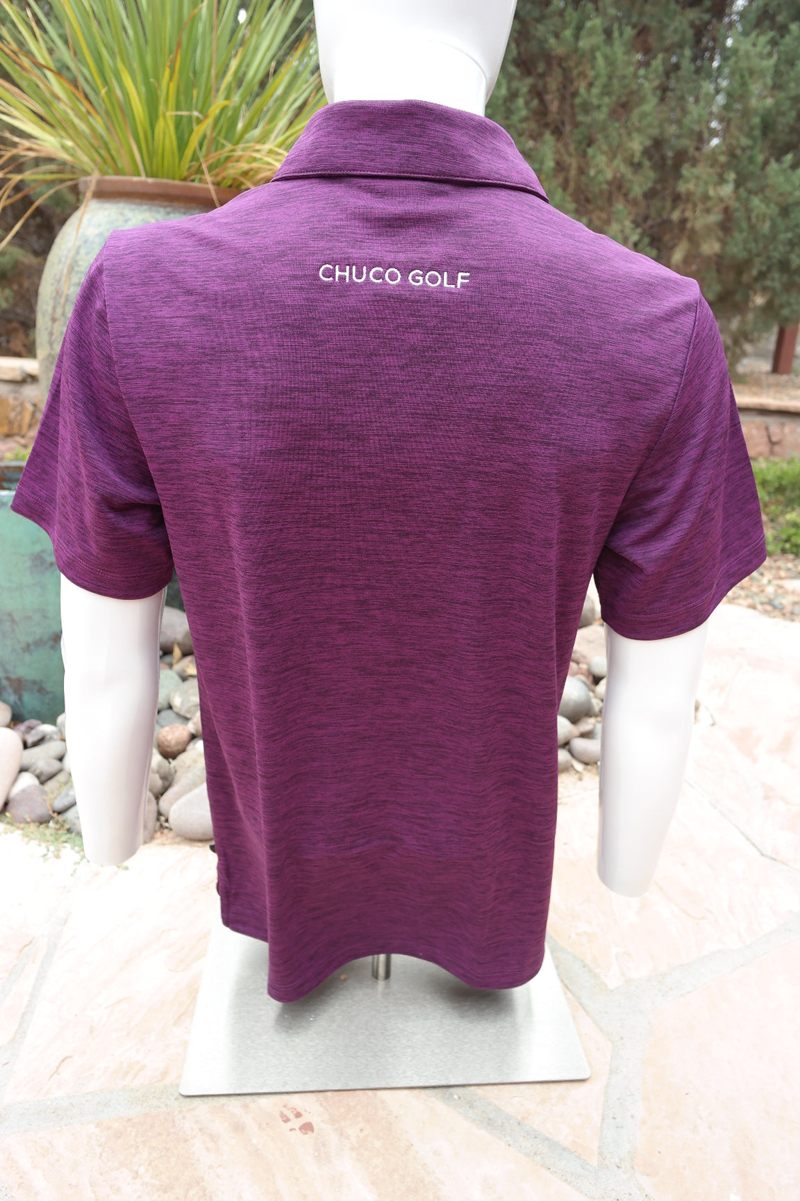 Chuco Heather Golf Polo- Heather Violet