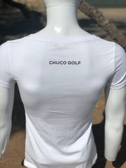 Chuco Drop Neck Ladies Tee- White