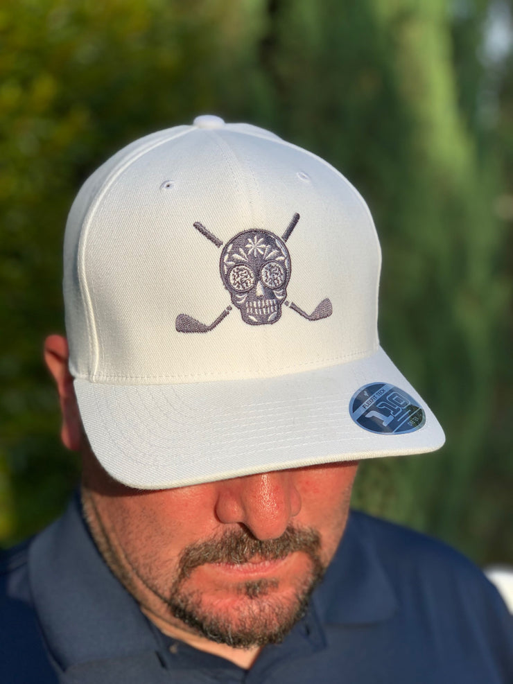 Chuco Golf Hat- White/Grey
