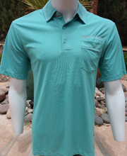 "Load image into Gallery viewer, Chuco Pocket Sport Polo- The ""Geek"" Aqua"