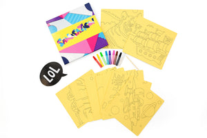 Boys 20pc Sand Art Craft Pack